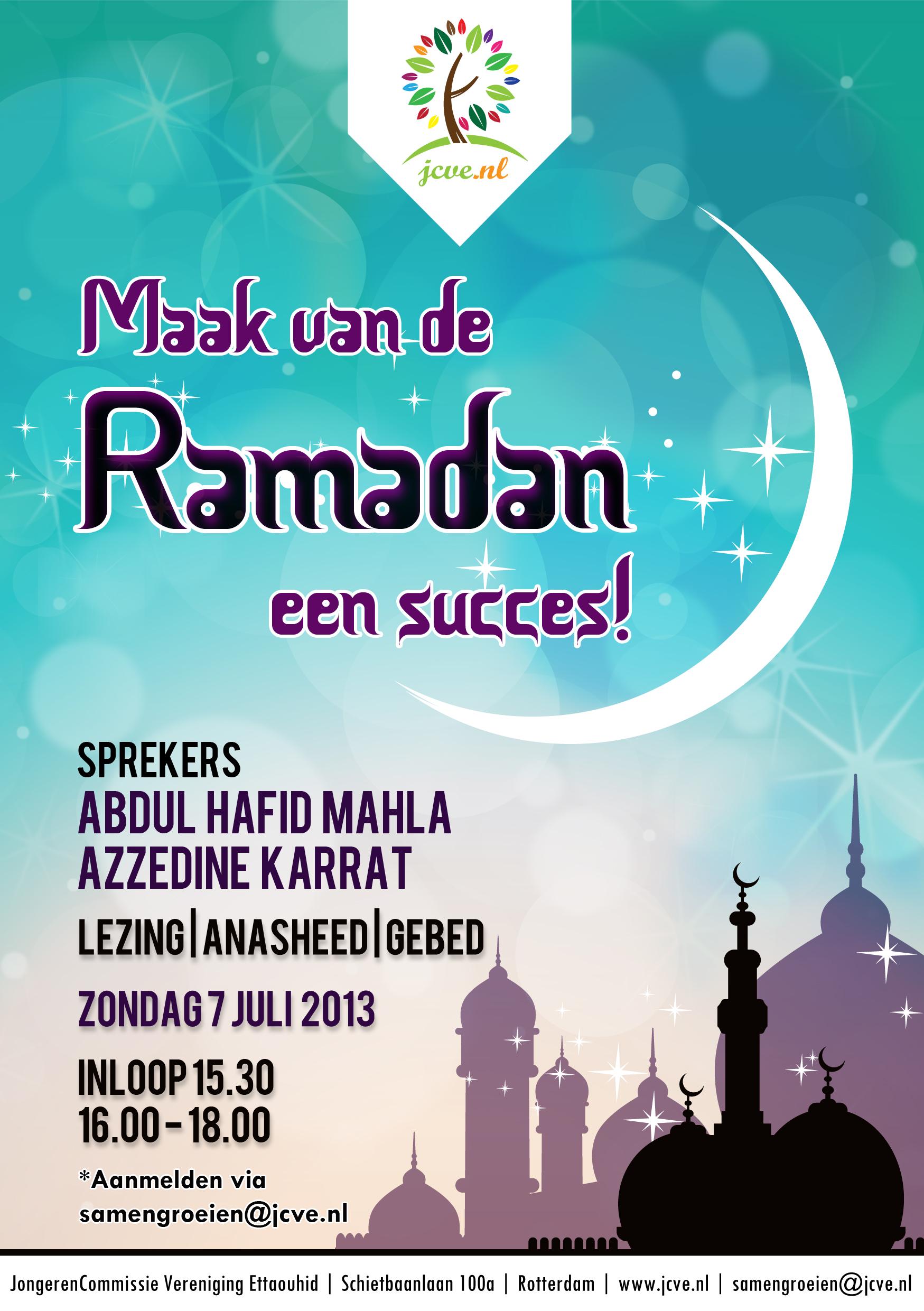 maak van de ramadan een succes